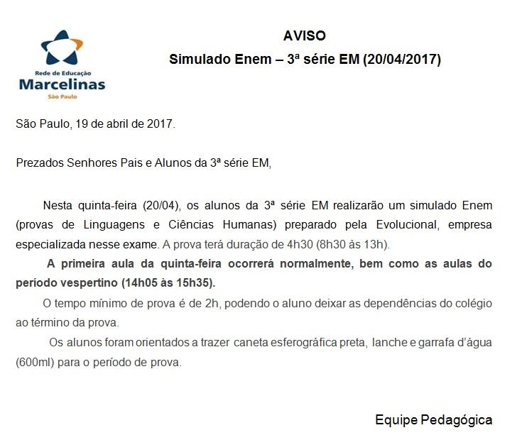 aviso_simulado enem - 3EM